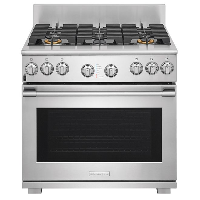 Electrolux Freestanding Dual Fuel Convection Range 6 4 Cu Ft Stainless Steel E36df76tps Ron Dual Fuel Ranges Freestanding Ranges