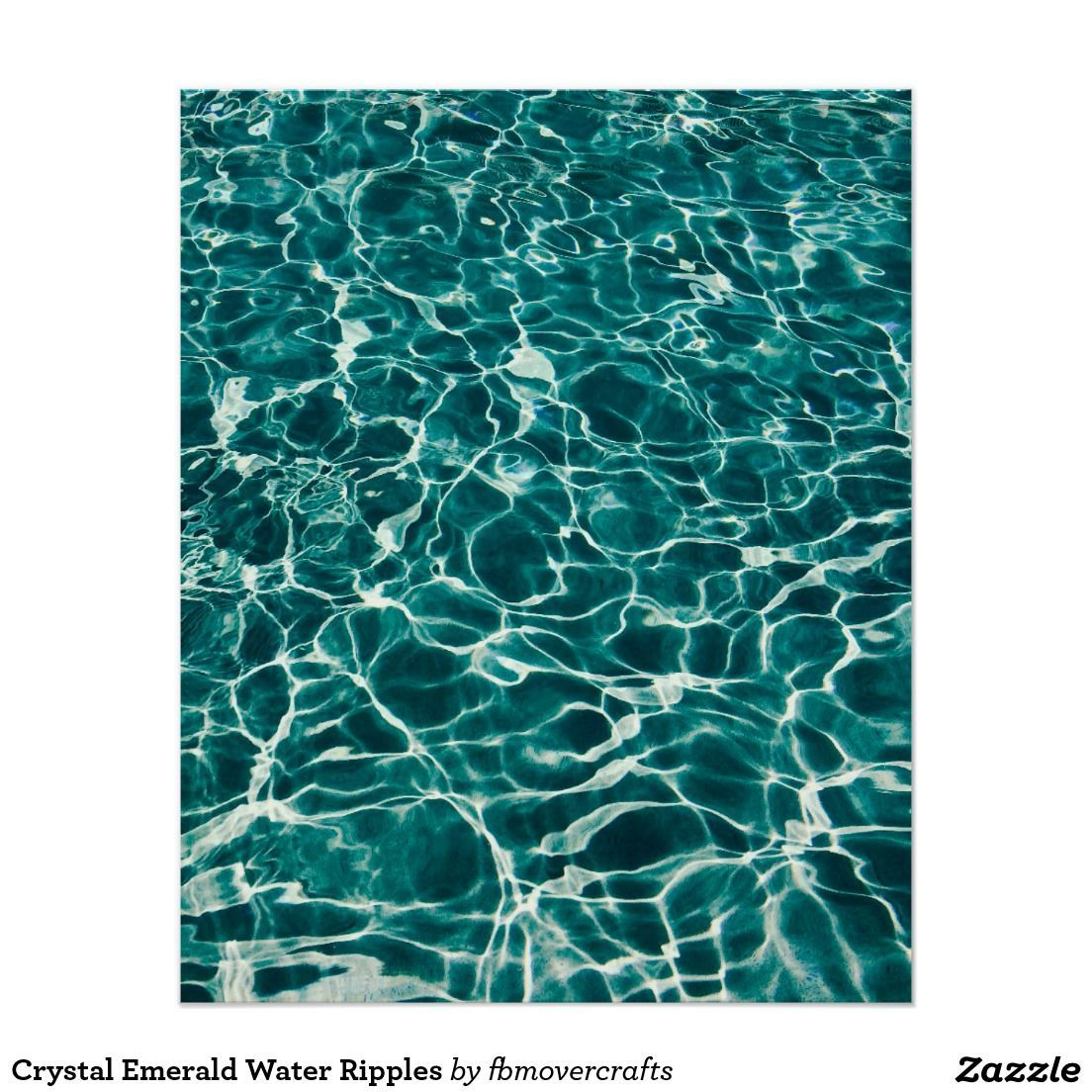 Crystal Emerald Water Ripples Poster | Zazzle.com #waterripples Crystal Emerald Water Ripples #waterripples
