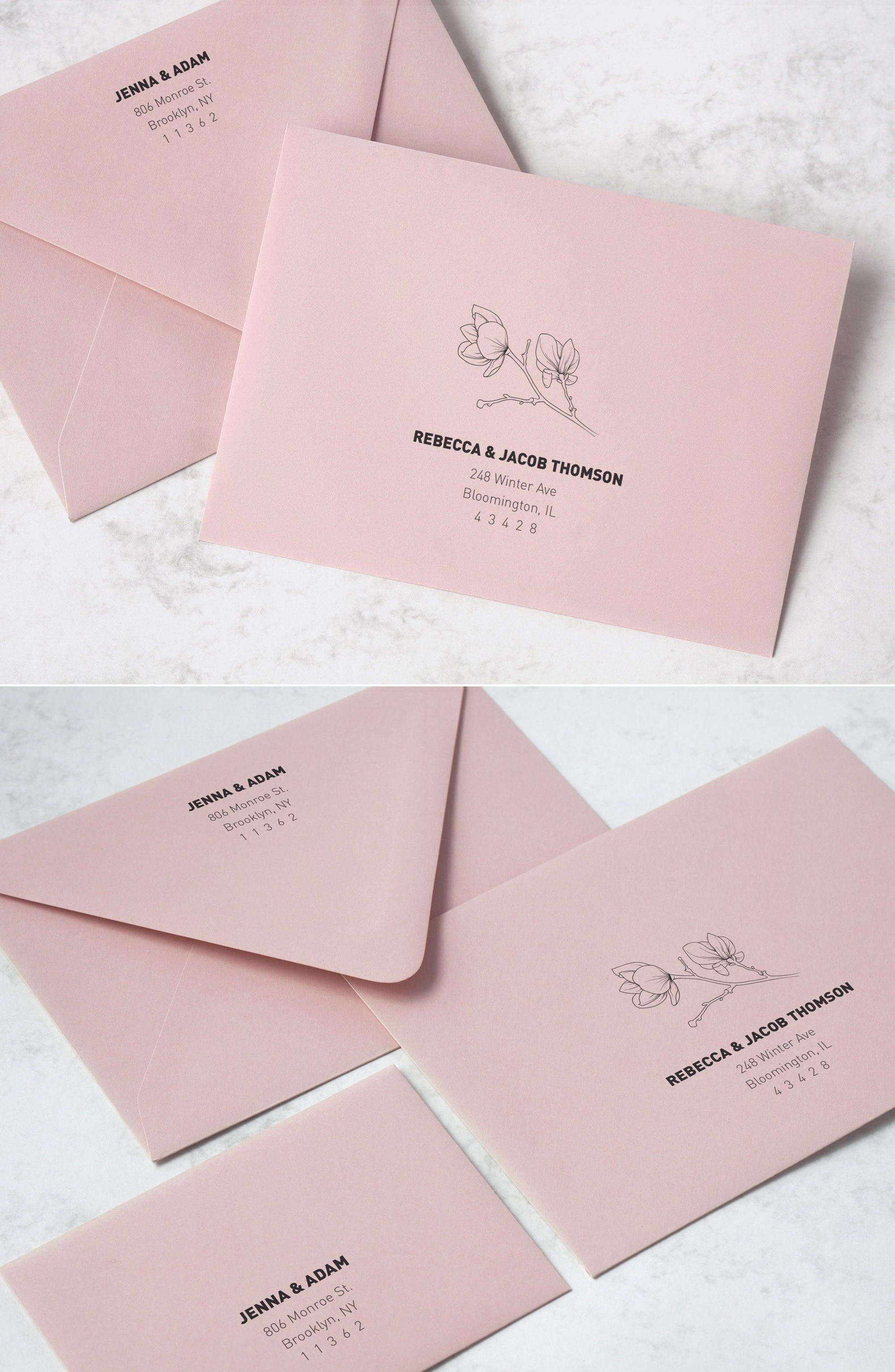 Printable Envelope Addressing Template Magnolia Wedding Etsy In 2020 Wedding Invitation Envelopes Floral Wedding Envelopes Envelope Addressing Template