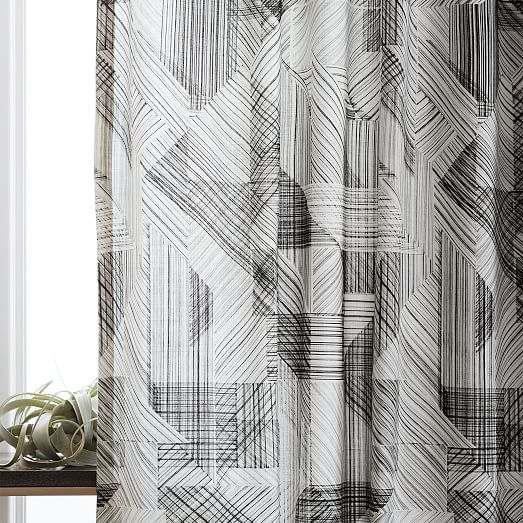 Cotton Diffused Stripe Curtains (Set Of 2)