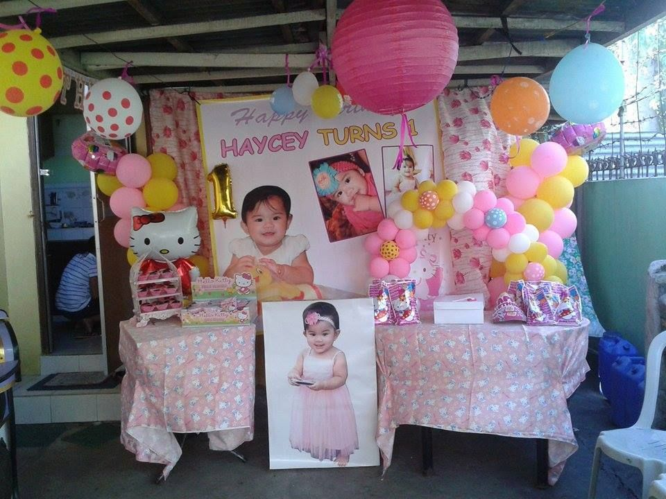 picture standee 1st birthday, Decor