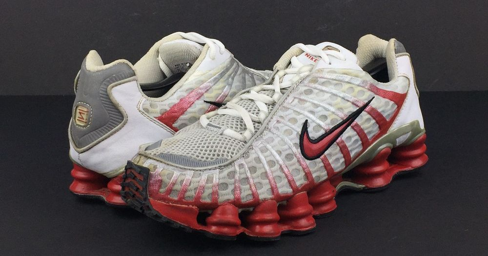 RARE Running Nike TL1 Shoes Shox Mens WhiteRed Athletic YH2EWD9I