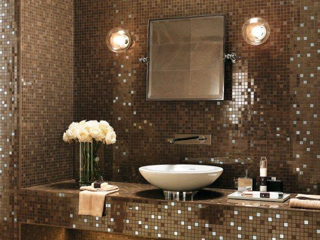 spiegel fliesen braun mosaik badezimmer atlas concorde italien ... | {Badezimmer design fliesen braun 66}