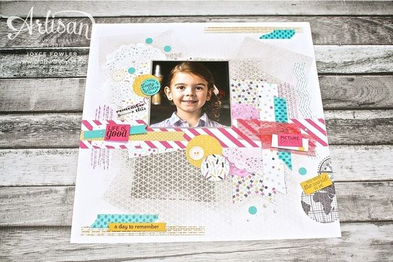 Scrapbook Page With Lots Of Texture And Color Using Our Its My