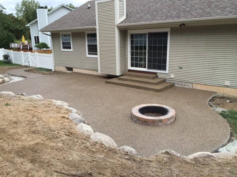 Image result for exposed aggregate patio images backyard oasis