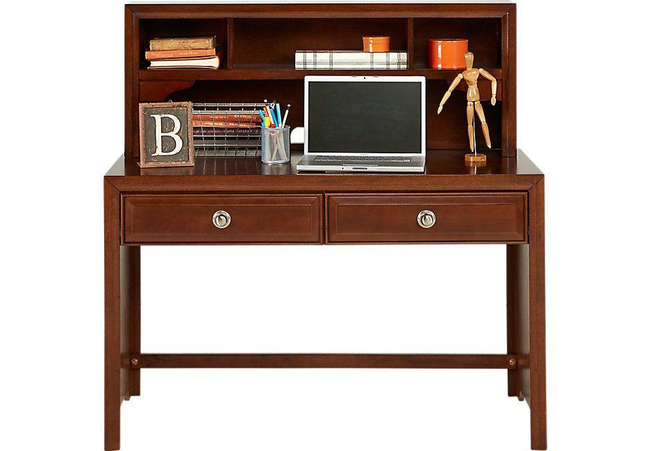 Belcourt Jr Cherry Desk Hutch Desks Dark Wood