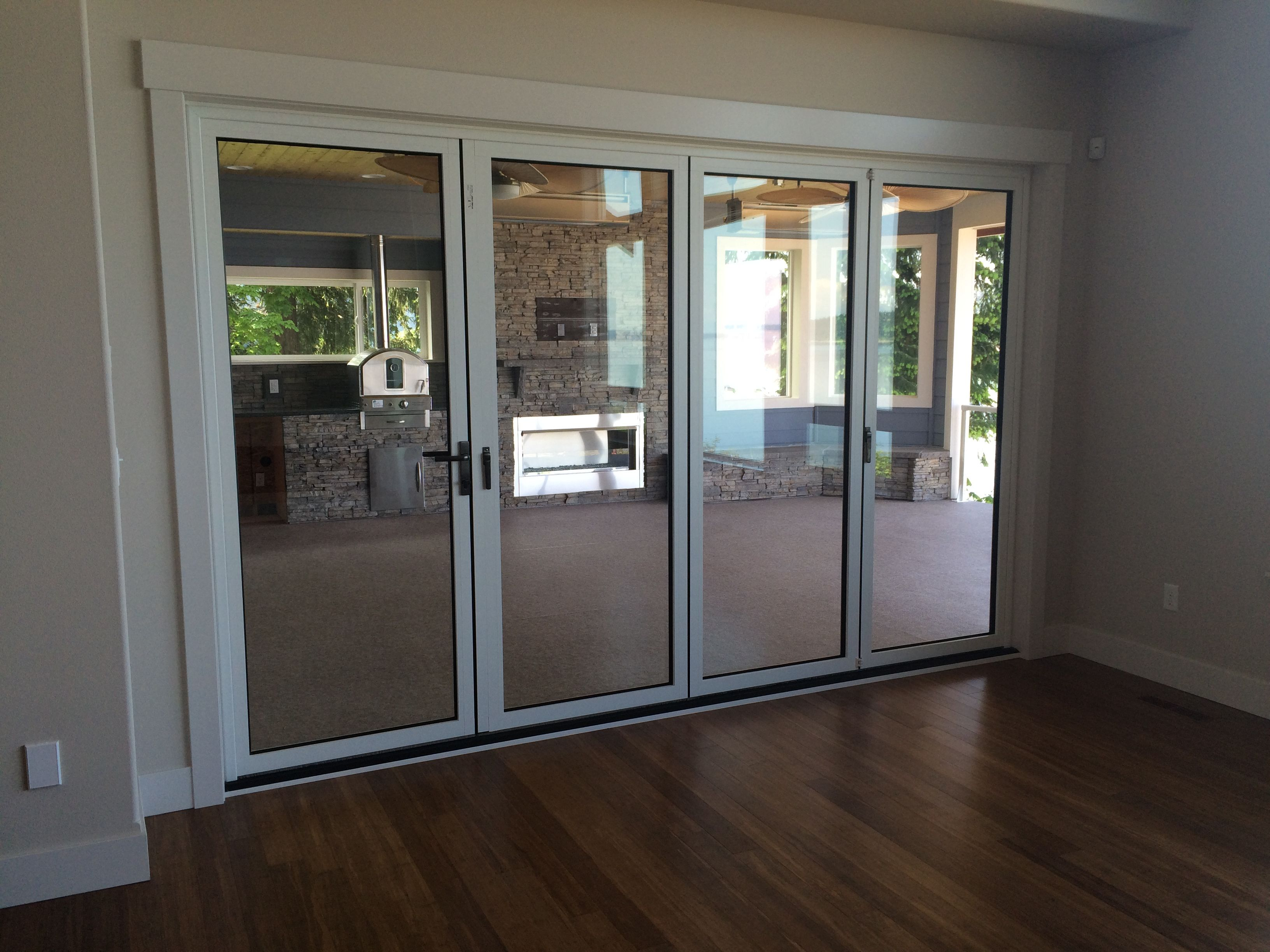 nano door - shown closed | patios + landscape |gnw | pinterest