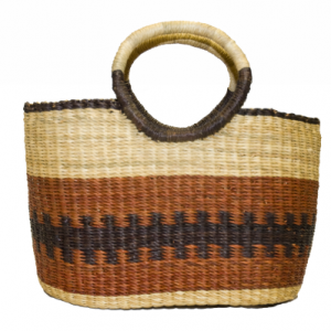 Asungtaba book basket. Asungtaba means helping each other succeed in Frafra language, spoken in the Northern region of Ghana.