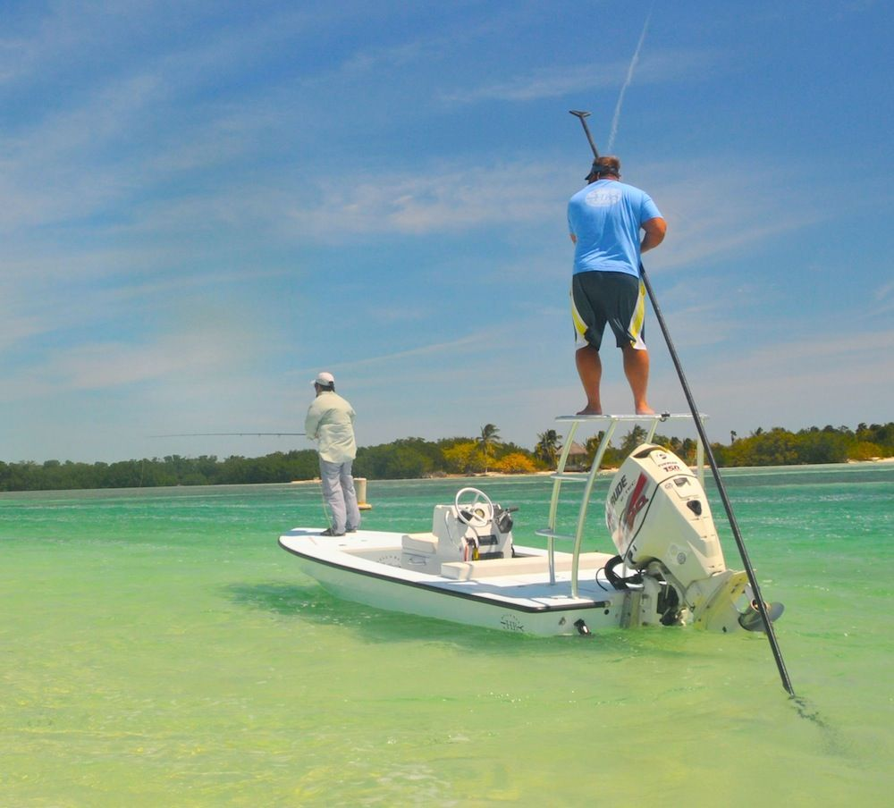 Hell 39 s bay boatworks technical poling skiff fishing boat for Fly fishing boats