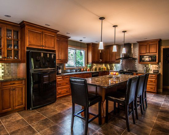Kitchens With Black Appliances Photos Bing Images Black