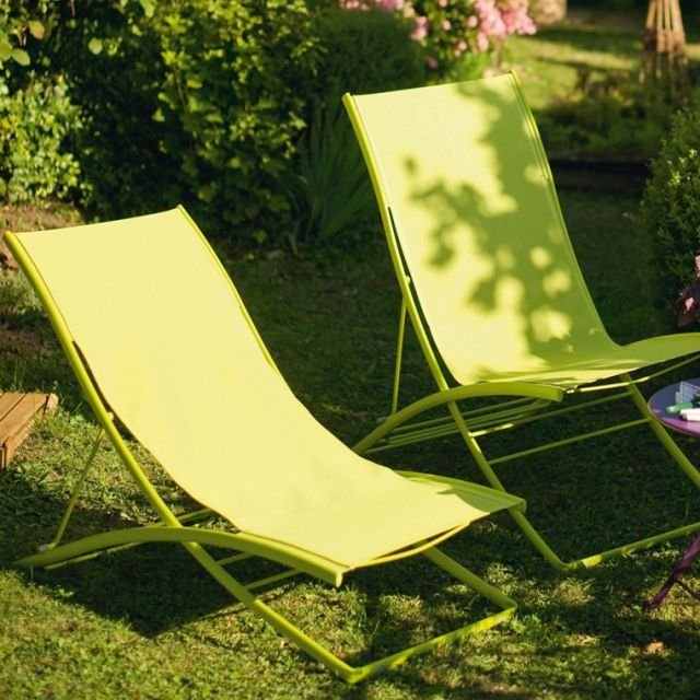 Transat Plein Air Fermob Meuble Jardin Chaise D Exterieur Decoration Maison