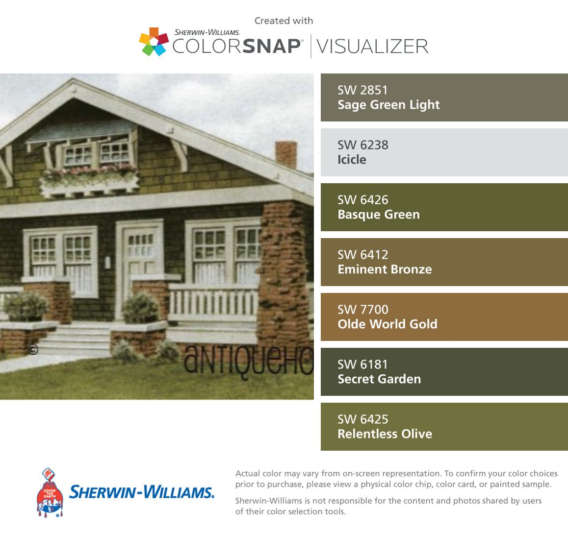 I Found These Colors With Colorsnap Visualizer For Iphone By Sherwin Williams Sage Green Light