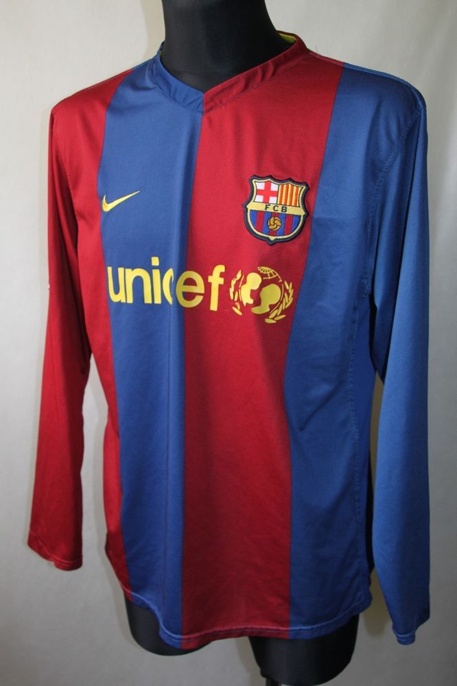 baf36933f2 FC Barcelona FCB Home Football Shirt Jersey 2006/2007 Long Sleeve sz XL  Rare! #Nike