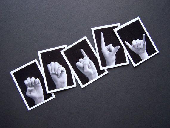 ASL ALPHABET Sign Language Letter Size by LoveLettersbyEmily