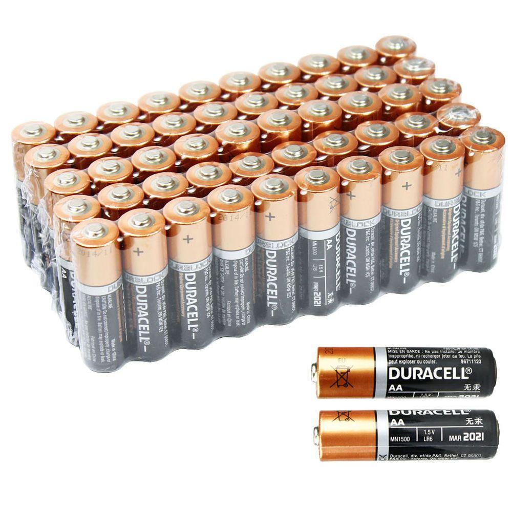 50 Pcs Aa 1 5v Duracell Alkaline Batteries Bulk Exp 2021 Duralock Duracell Alkaline Battery Batteries