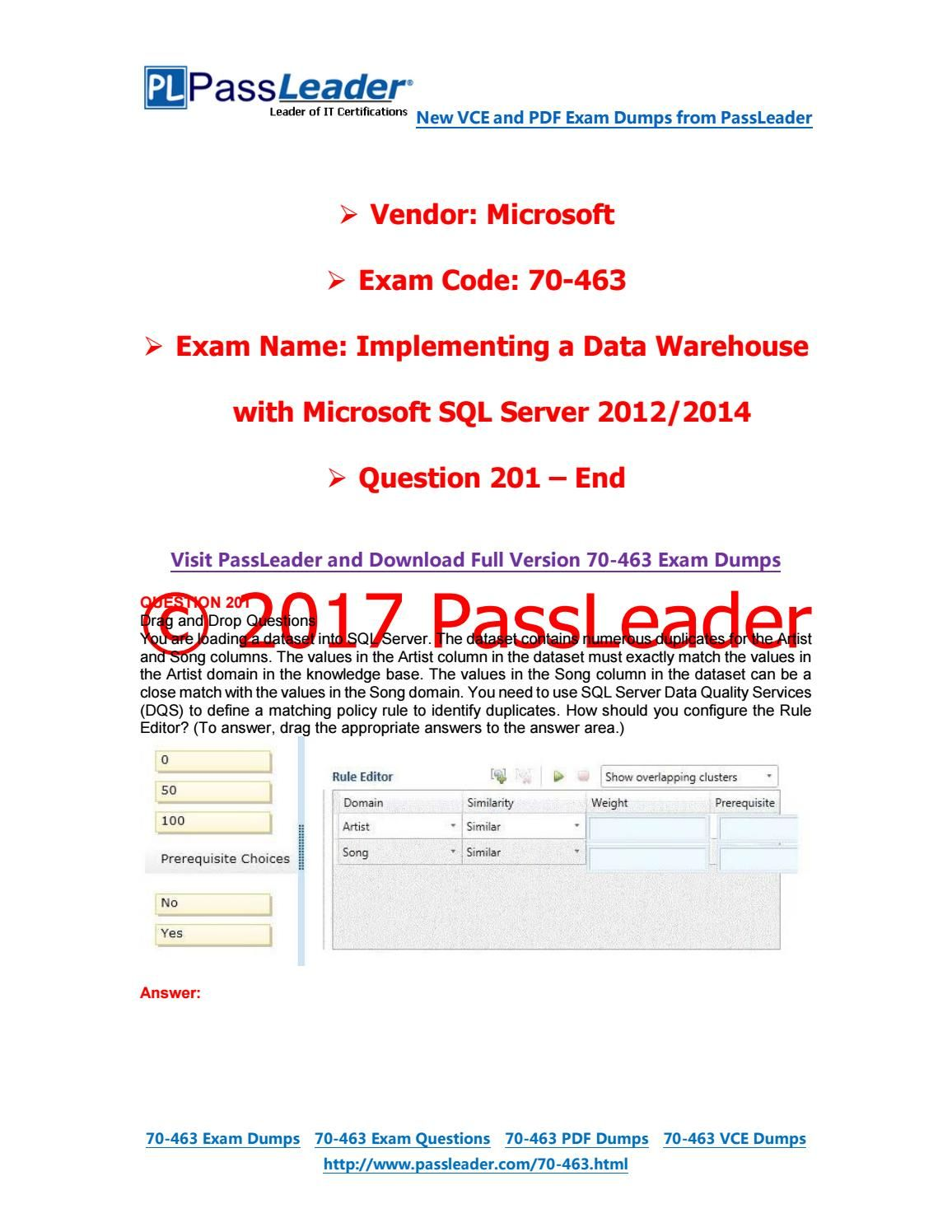 Exam 70 463 Pdf