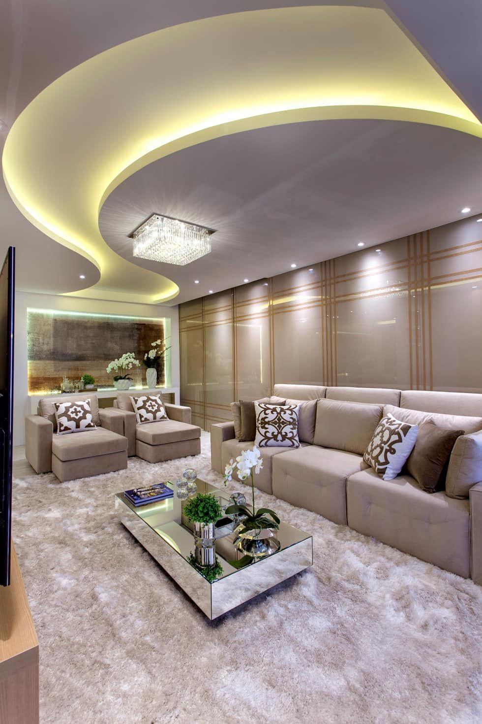 Apartamento jundia salas de estar modernas por designer for Sala design moderno