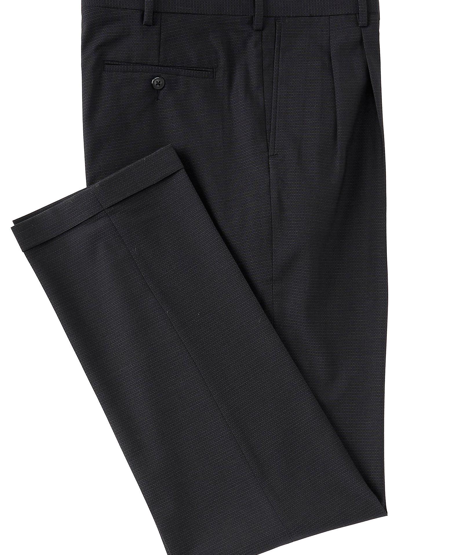 Roundtree Yorke Big Tall Travelsmart Pleated Plaid Dress Pants Black 38 36 In 2020 Plaid Dress Pants Plaid Dress Black Pants [ 1916 x 1636 Pixel ]
