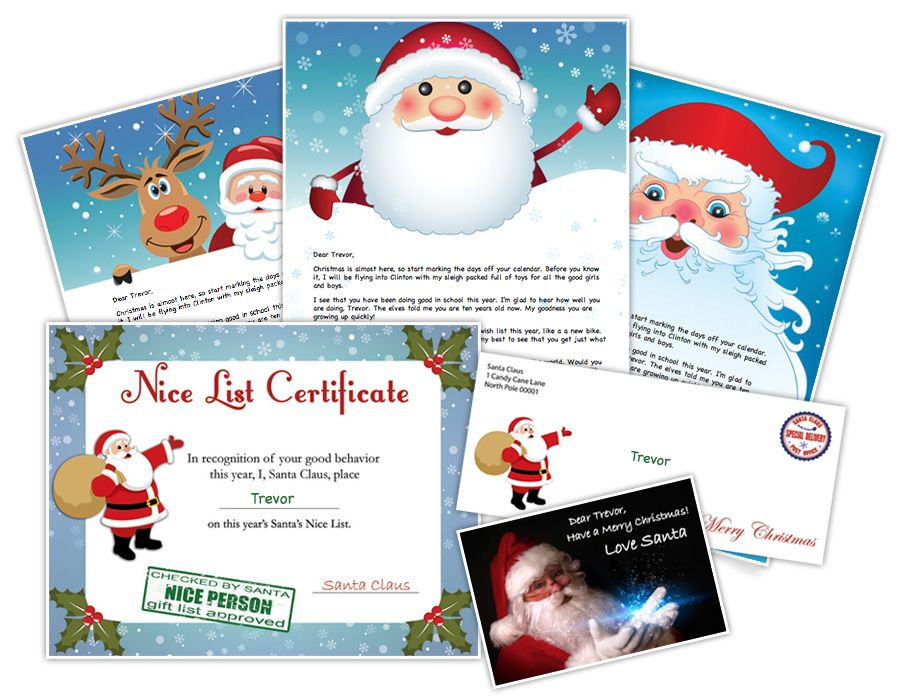 Create Printable Letters From Santa Claus Personalized For Your Children Choose From Over 150 Design And Letter Christmas Lettering Santa Letter Christmas Fun
