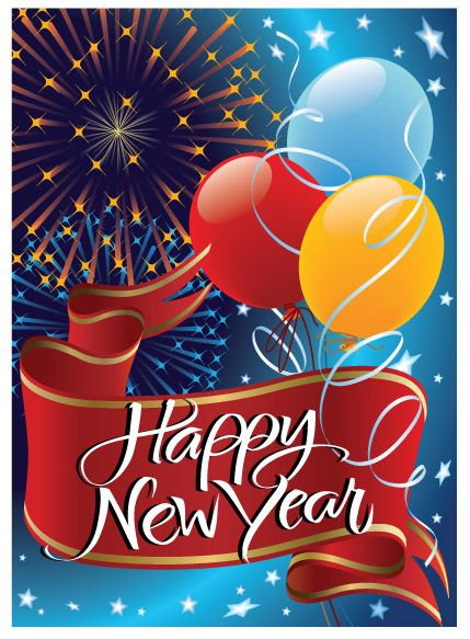 new year greeting card design