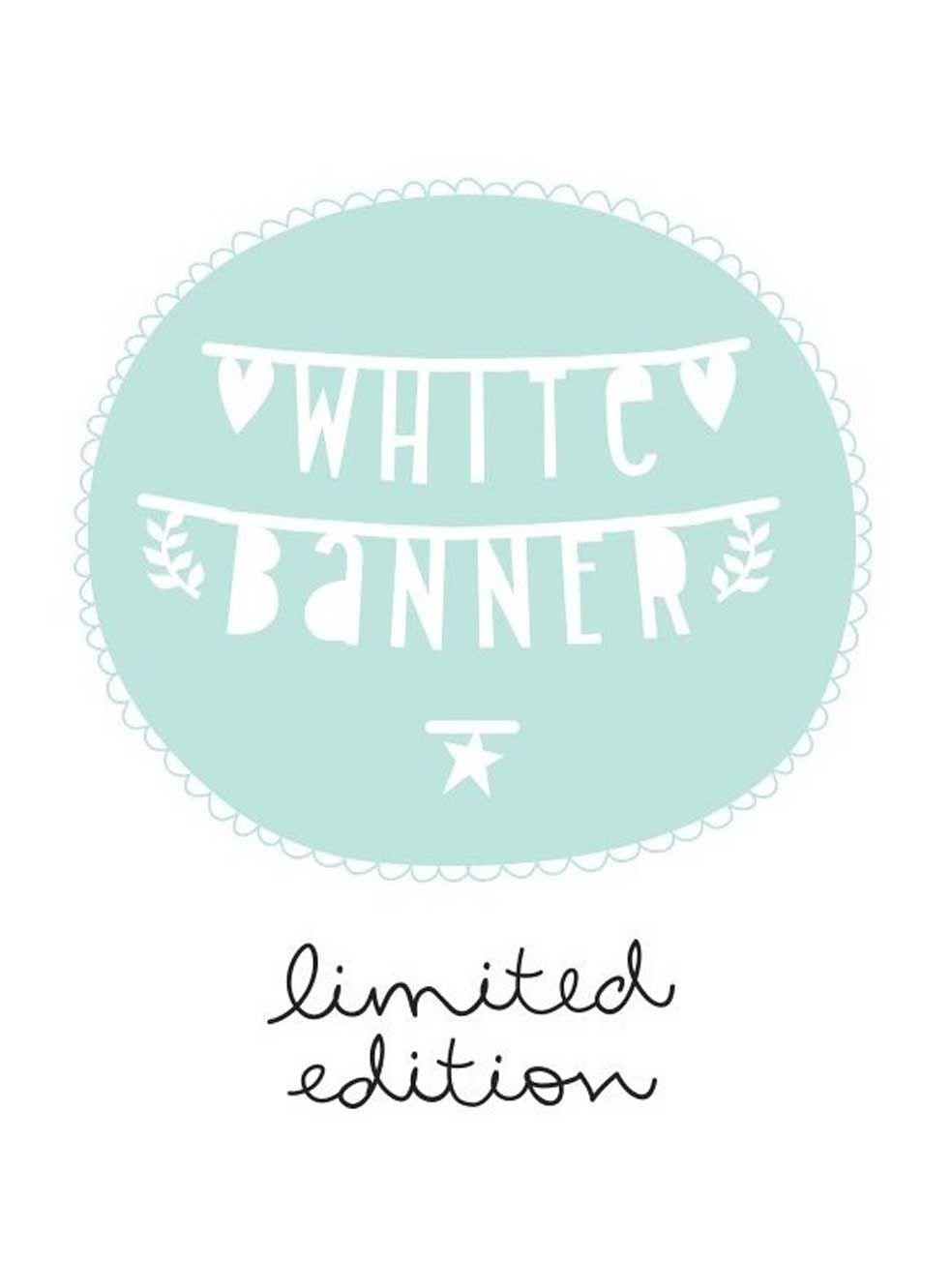 A Little Lovely Company  Diy Letter Banner  White  Design Ideas