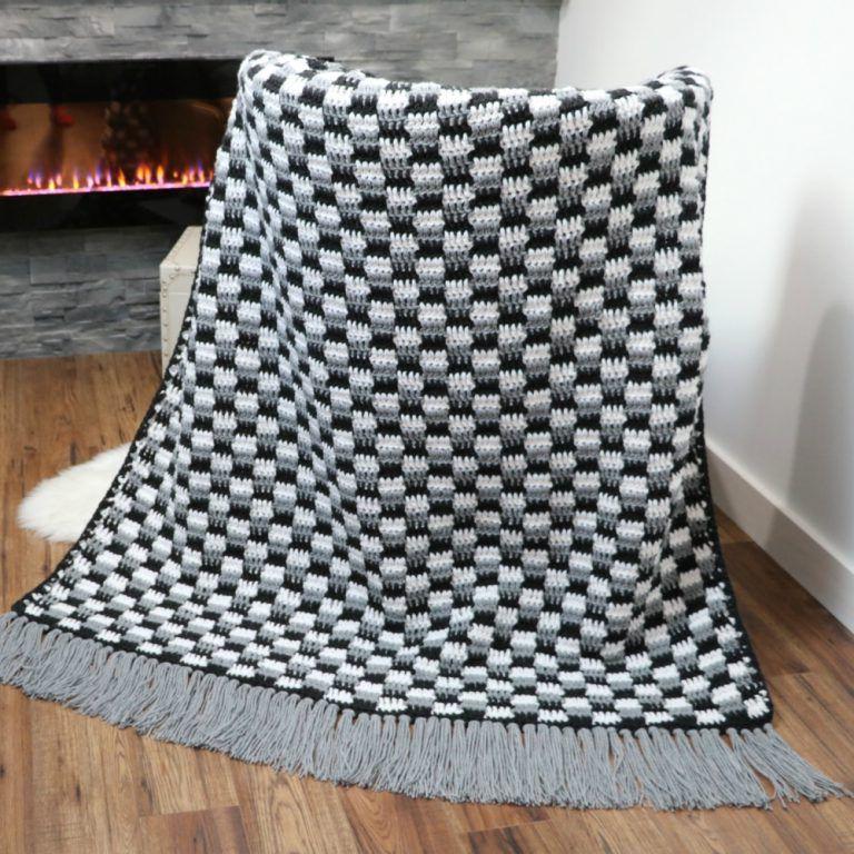 Crochet Rustic Farmhouse Throw Blanket | Crochet blanket designs, Crochet throw blanket, Crochet ...