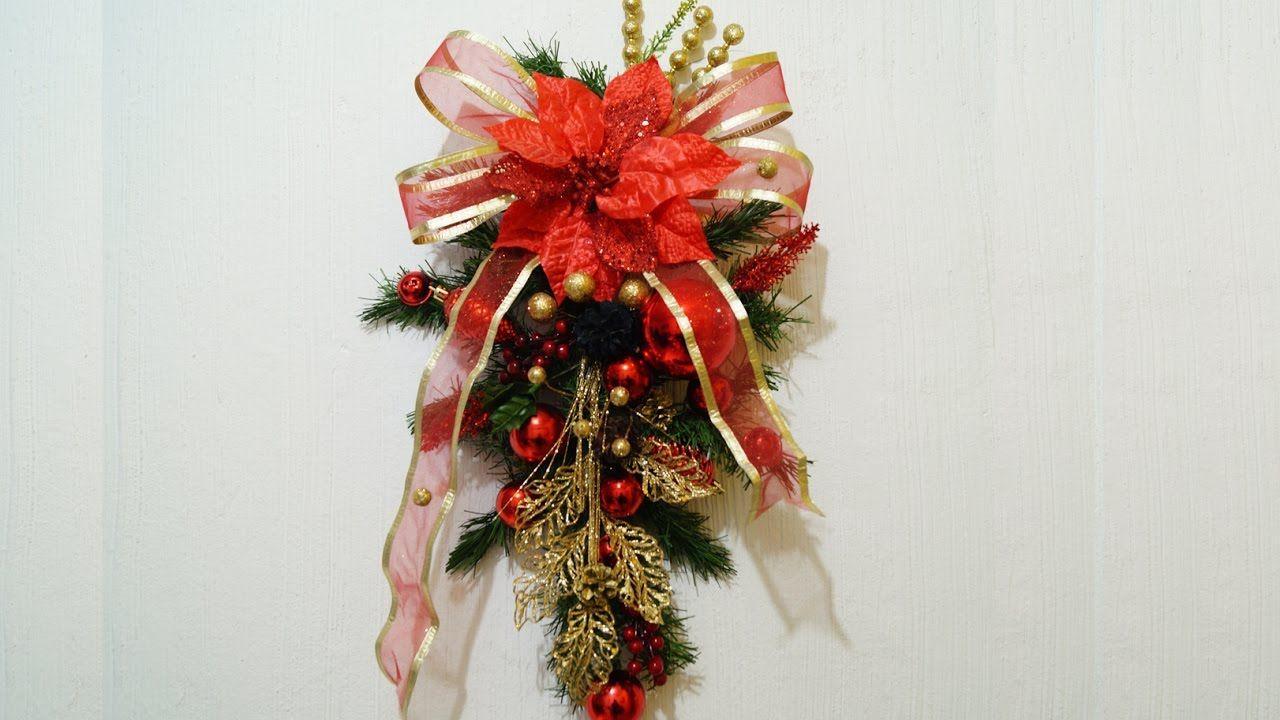 C mo hacer un bonito adorno navide o para pared youtube - Como realizar adornos navidenos ...