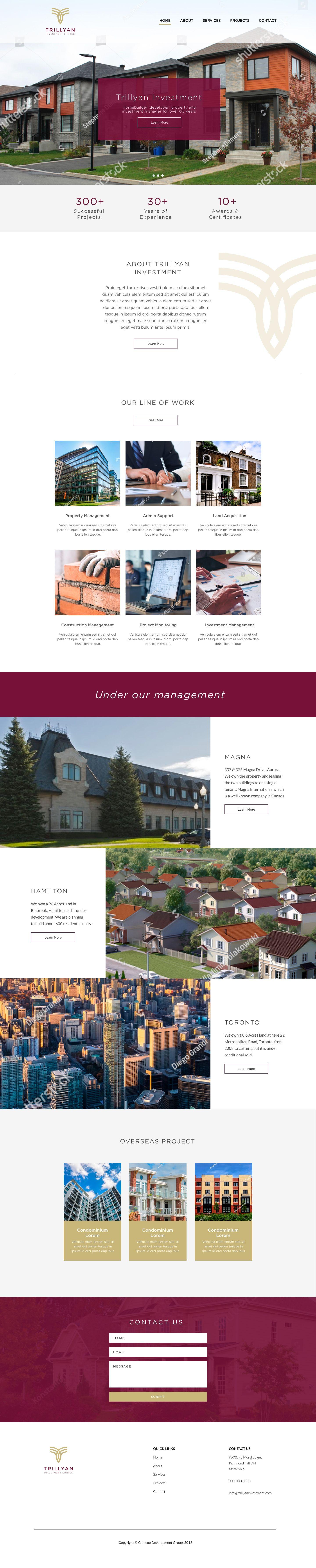Trillyan Investment Real Estate Design Web Design