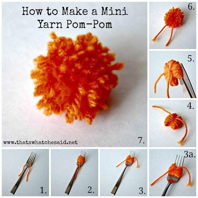 How to make pom poms with yarn yarn pom poms pom poms for Do it yourself pom poms