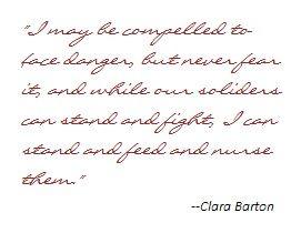 Clara Barton Timeline   Clara Barton on Danger and Duty   Civil ...