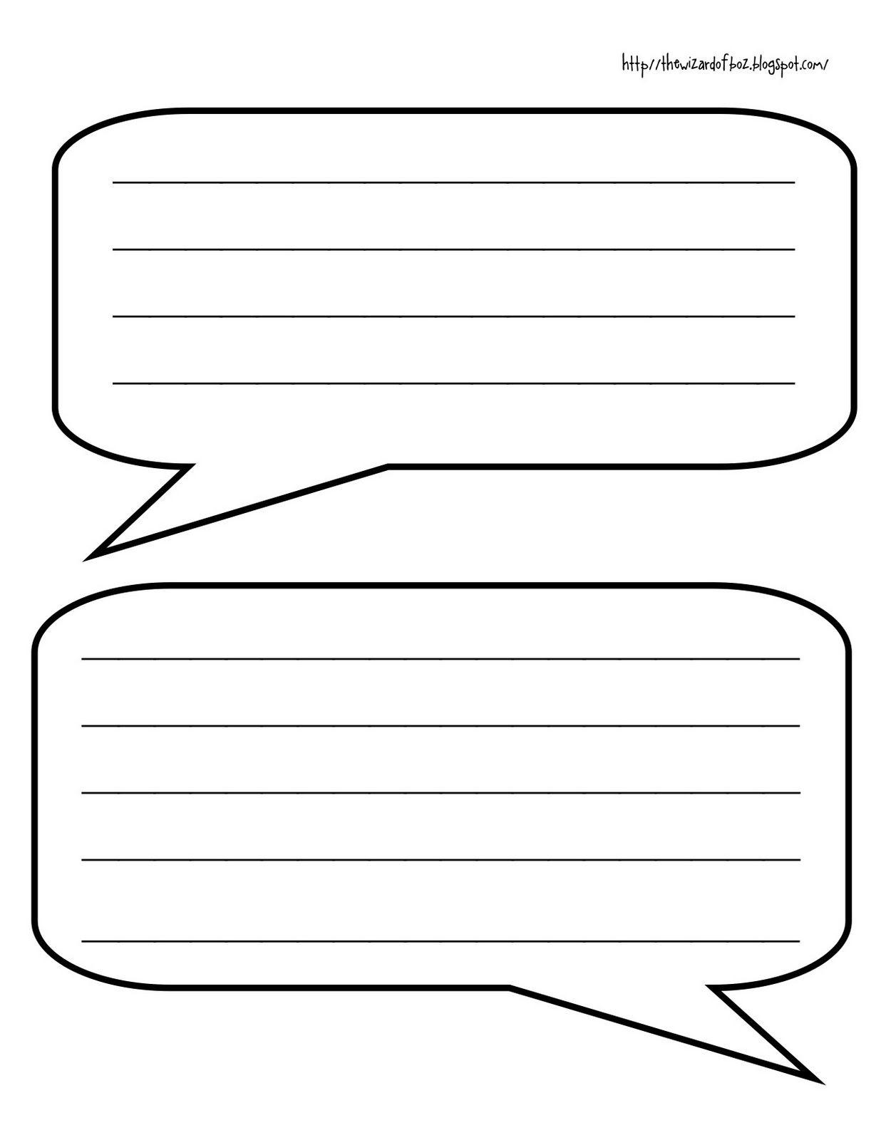 Speech And Conversation Bubbles