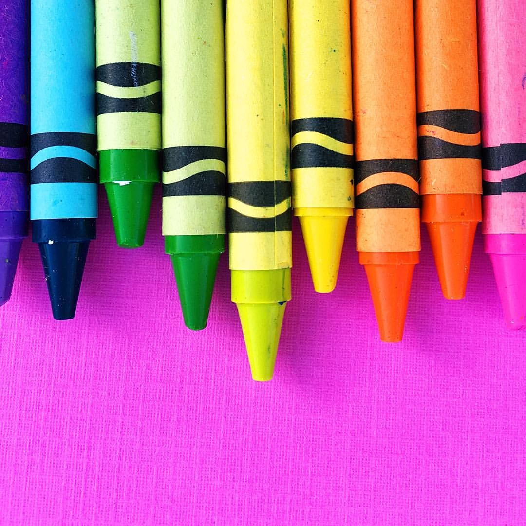 Nothing better than a fresh set of crayons! A rainbow of