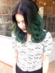 Green Ombre Short Hair Cerca Con Google