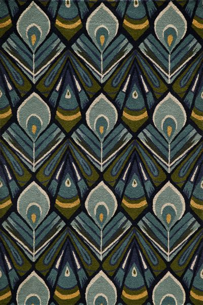 Momeni S Habitat Features A Globally Inspired Blend Of Influences From Ikat Uzbek Suzani And Indigenous Craft Art Deco Pattern Art Deco Design Print Patterns