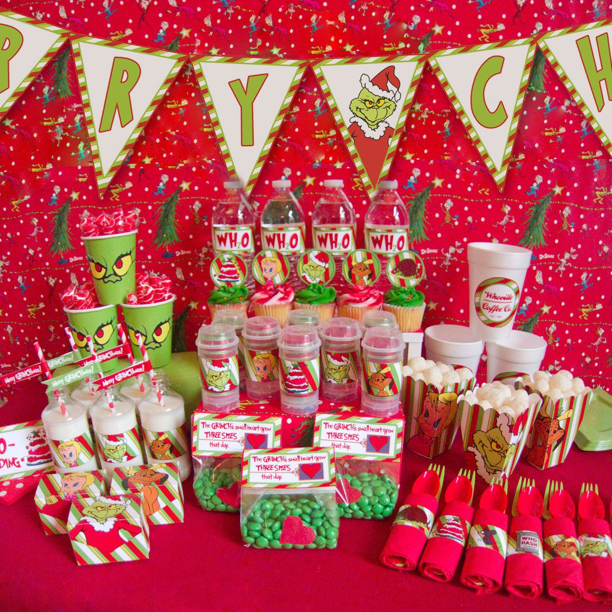 Grinch Christmas party | Grinch party | Pinterest