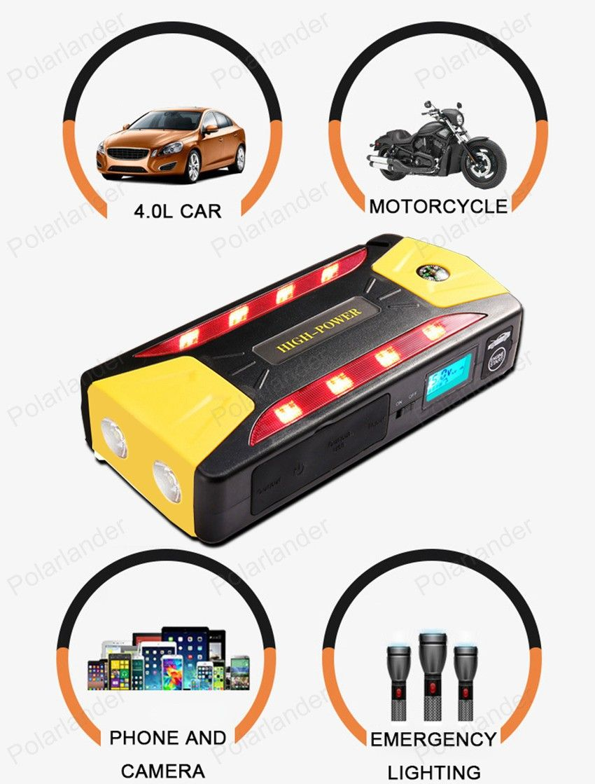Multifunction Auto Emergency Start Battery Charger Engine Booster Car Jump Starter Power Bank For 12v Pack For Petrol And Diesel Sell Car Booster Car Diy Car