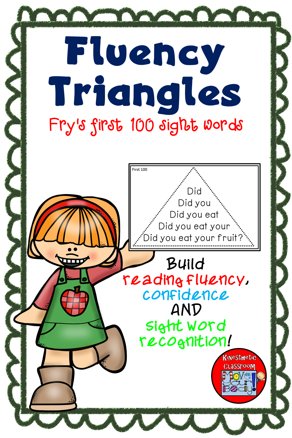 Reading Fluency Activity Fluency Triangles Fry First 100