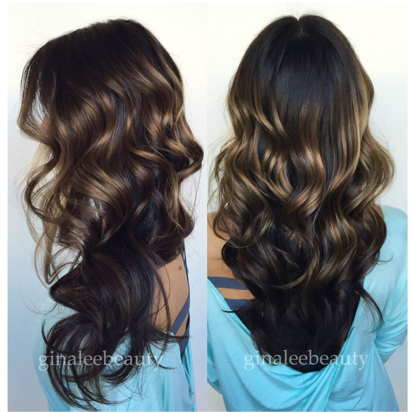 Sunkissed balayage highlights on dark brown hair ginaleebeauty sunkissed balayage highlights on dark brown hair ginaleebeauty pmusecretfo Images