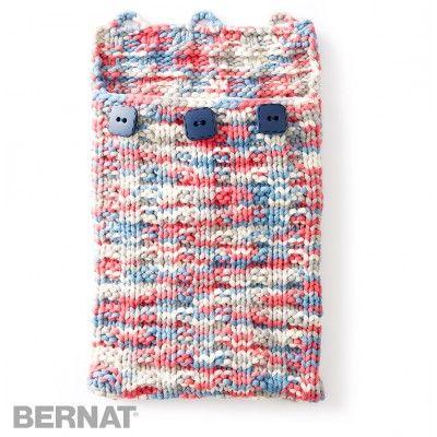 Free Beginner Tablet Case Knit Pattern Bernat Yarnspirations
