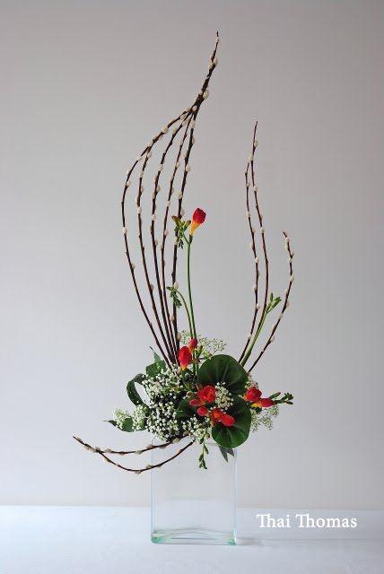 art floral moderne art floral ikebana coole idee blumen gr ne kunst und garten. Black Bedroom Furniture Sets. Home Design Ideas