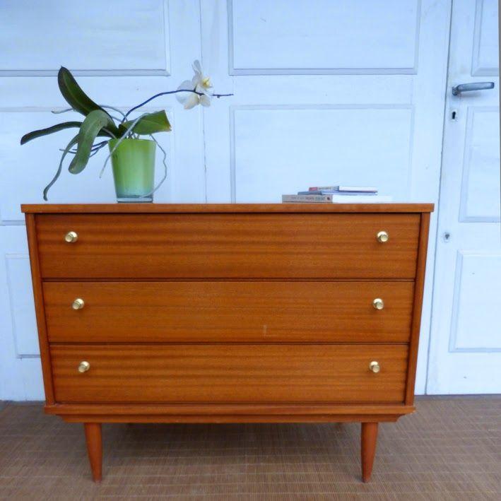 les rois du bois commode bois vintage pieds compas un clic ici pour petits meubles. Black Bedroom Furniture Sets. Home Design Ideas