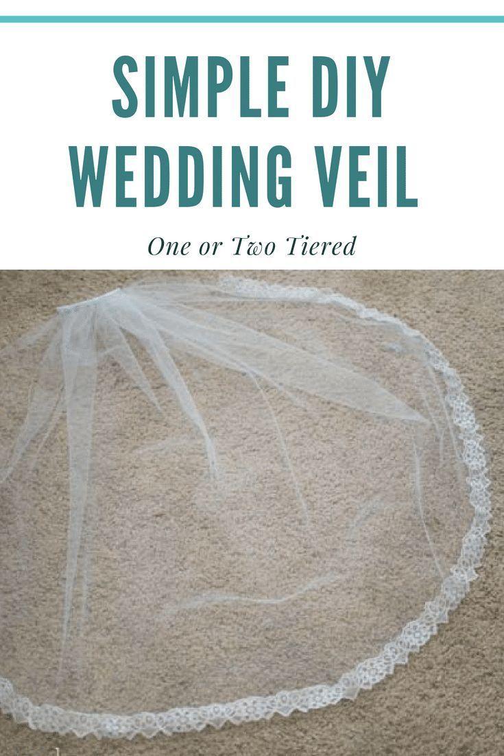 Simple DIY Wedding Veil Tutorial  Chicken soup books  Pinterest