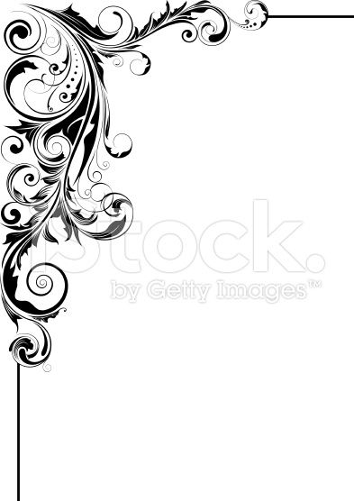 floral leaf corner design in 2020 bird silhouette art floral border design clip art borders floral leaf corner design in 2020