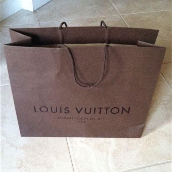 fc5e57b7f70 Louis Vuitton paper gift bag Louis Vuitton paper gift bag 100% authentic LV  paper gift bag 16 inches by 13 inches Louis Vuitton Jackets   Coats