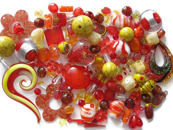 20% off sale at our #Ebay store until the end of August!  #Beads 115+ Pcs Red Orange Yellow  http://www.ebay.ca/itm/291855850853?ssPageName=STRK:MESELX:IT&_trksid=p3984.m1586.l2649