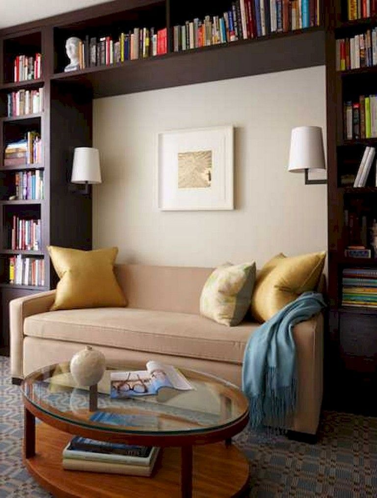 53 Lovely Home Library Design Ideas Home Library Decor Home Library Design Small Home Libraries