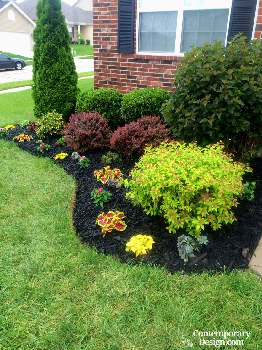 Gorgeous Black Mulch Landscaping Ideas With Images Small Front
