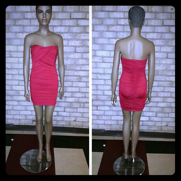 Red strapless dress Worn once Dresses Strapless