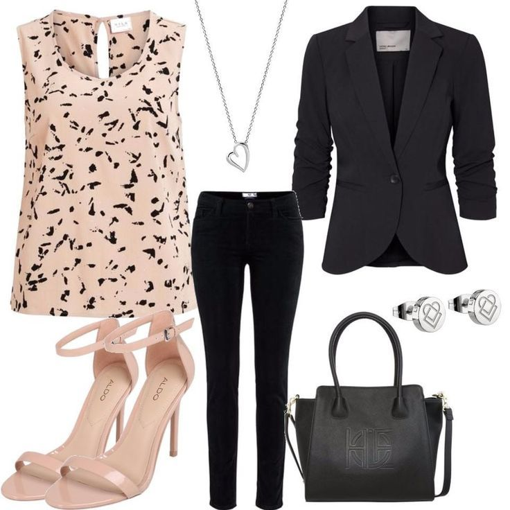 VERO MODA Pink outfit for ladies for after-shopping on Stylaholic - Outfits for Work