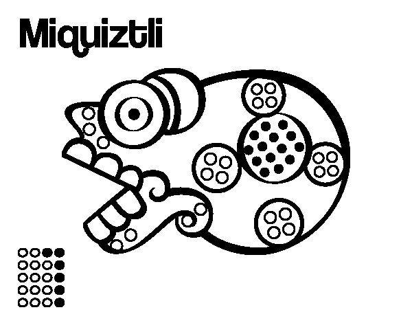 Dibujo de Los días aztecas: la muerte Miquiztli para Colorear ...